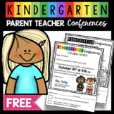 Parent Teacher Conference Form for Kindergarten FREEBIE