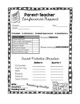 Parent Teacher Conference Forms :)