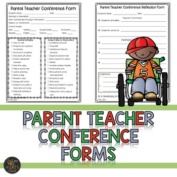 Parent Teacher Conference Forms By Kelly Avery Mrs AveryS Island