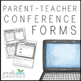 Parent Teacher Conference Forms [EDITABLE]