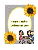 Parent Teacher Conference Forms (Sunflower)