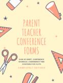 Parent/Teacher Conference Forms *EDITABLE*
