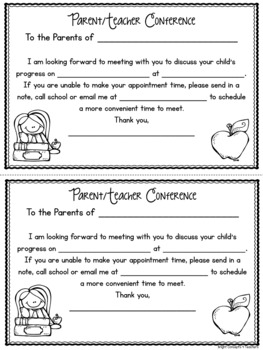 image regarding Printable Parent Teacher Conference Forms titled Mother or father Trainer Meeting Types EDITABLE