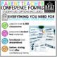 Parent Teacher Conference Forms Editable | Student Led Conferences