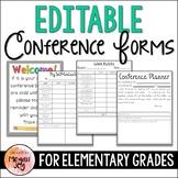 Parent Teacher Conference Forms - Editable!