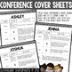 Parent Teacher Conference Forms Editable