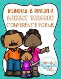 Parent Teacher Conference Forms (English and Spanish). EDITABLE!