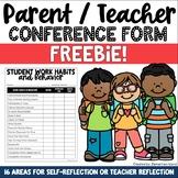 Parent Teacher Conference Forms FREEBIE