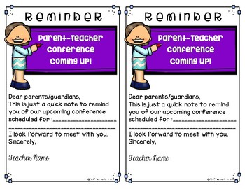 Parent-Teacher Conference Forms FULL COLOR {EDITABLE} Monthly FREEBIE
