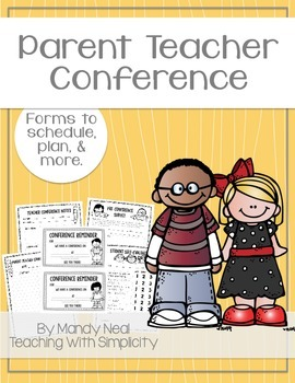 Parent Teacher Conference Forms ~ Free Printable