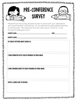 Crazy image intended for printable parent teacher conference forms