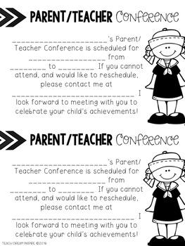 Editable Parent/Teacher Conference Forms {Nautical Theme}