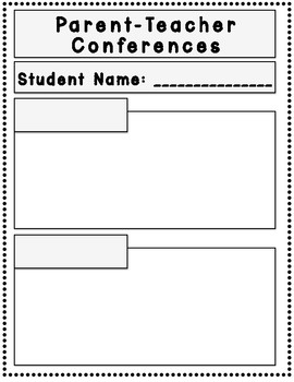 Parent Teacher Conference Forms Pack-Over 30 Styles To Choose From!!