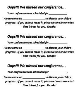 Parent-Teacher Conference Forms Packet