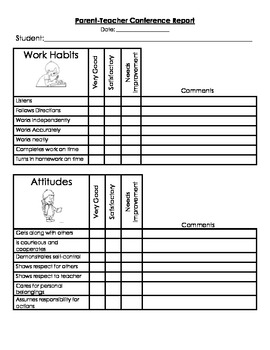 parent teacher conference forms and social questionaire by jab tpt
