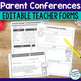 Parent Teacher Conference Forms Editable