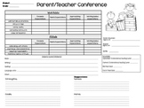 Parent Teacher Conference Forms with Student Reflection Sheets