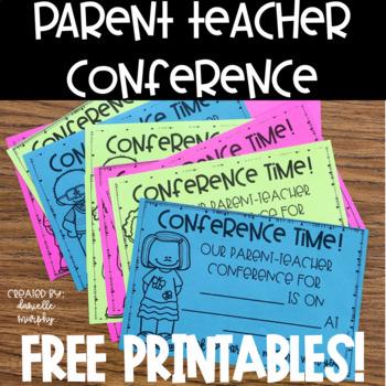 Parent Teacher Conference Freebie!