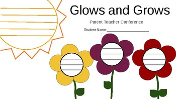 Parent Teacher Conference Glows and Grows