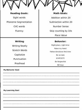 Parent-Teacher Conference Goals