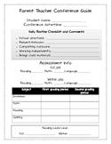 Parent Teacher Conference Guide Form