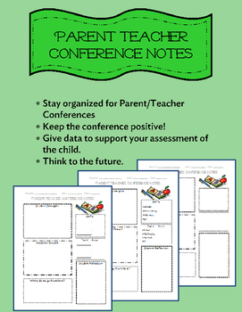 Parent/Teacher Conference Guided Notes