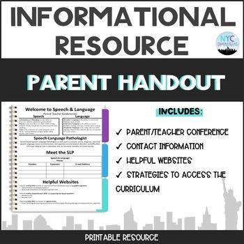 Parent-Teacher Conference Handout