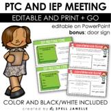Parent-Teacher Conference/IEP Meeting Pack (EDITABLE!)
