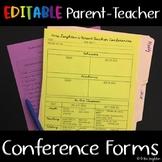 Parent Teacher Conference Info Sheet (editable) & Student Self Reflection