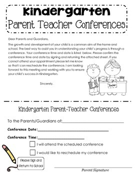 parent conferences letter