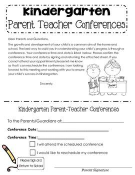 Parent Teacher Conference Letter by Katie Mueller | TpT