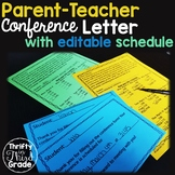 Parent Teacher Conference Letter -with Editable Schedule