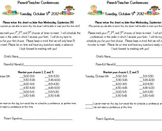 Parent Teacher Conference Letters Pack