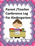 Parent/ Teacher Conference Checklist of Skills for Kindergarten