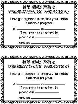Parent Teacher Conference, Meeting, Home Visit Reminders