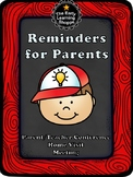 Parent Teacher Conference, Meeting, Home Visit Reminders