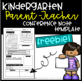 Parent-Teacher Conference Note Template Freebie
