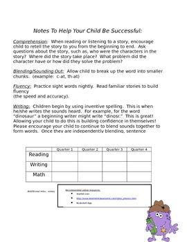Parent/Teacher Conference Notes