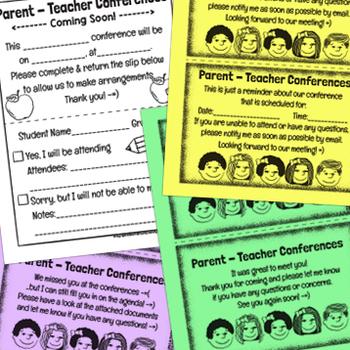 Parent Teacher Conferences: Essential Forms: Notice Response Reminder & Followup