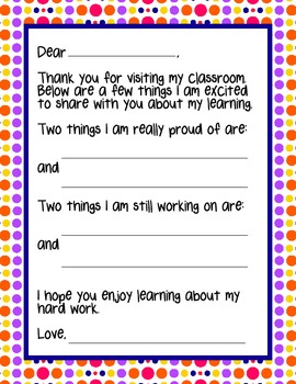 Parent Teacher Conference Pack -10 Bright Pages