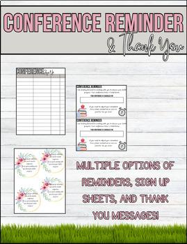 Parent-Teacher Conference Pack