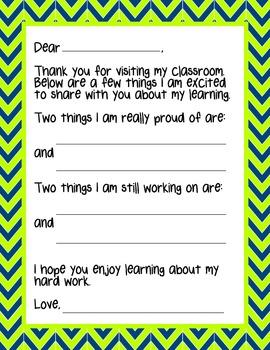Parent Teacher Conference Pack - Chevron Fun