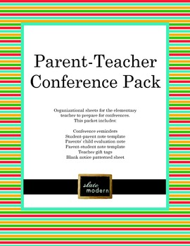 Parent Teacher Conference Pack - Classic Design