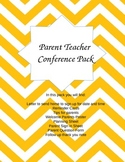 Parent Teacher Conference Pack Editable