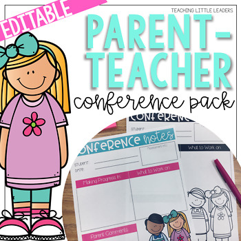 Parent-Teacher Conference Pack {Editable and with Google Slides Options}