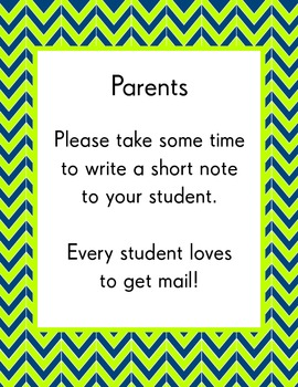 Parent Teacher Conference Pack - Modern Chevron Design