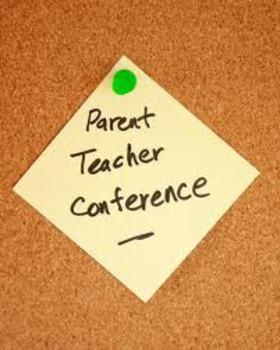Parent Teacher Conference Pack for Grades 3-8