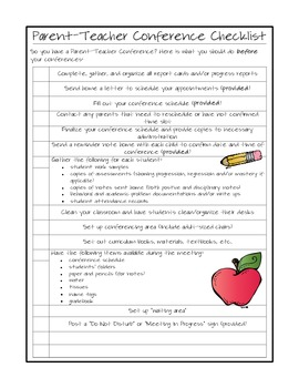 Parent-Teacher Conference Packet