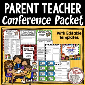 Parent Conference Packet by Queen of the Jungle