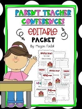 Parent Teacher Conference Packet EDITABLE